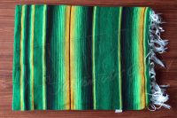 Mexikanische Decke Serape - green yellow black