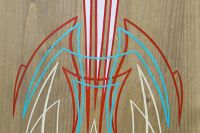 Wooden Pinstriping Panel (4 colors)