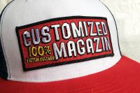 Customized Magazin - Cap - White / French Navy / Classic Red
