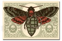 DEATH'S HEAD MOTH red edition