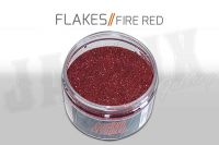 Custom Creative Metal Flakes - FIRE RED 3oz size 008
