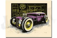 Purple Frankenstein Hot Rod