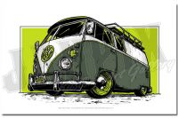 VW BUS - LIME'N'OLIVE GREEN